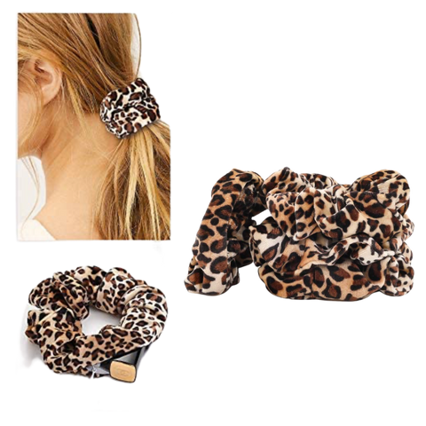Velvet Wild About You Animal Print Hair Scrunchie with Pocket