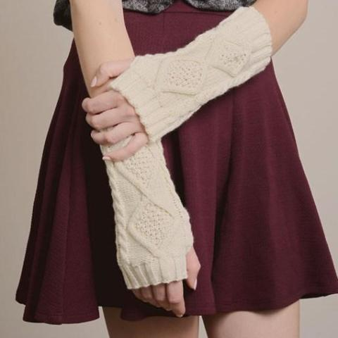 Knitted Hand & Arm Warmer Gloves 1108 Boutique