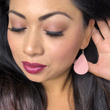 Blush Pink Teardrop Earrings 1108 Boutique