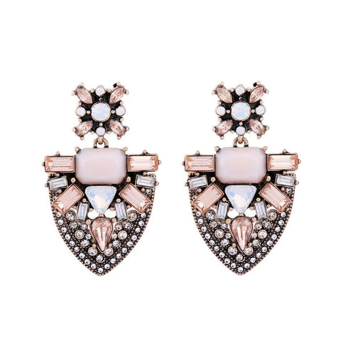 Pink Champs Statement Earrings 1108 Boutique