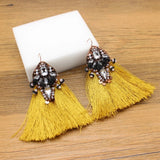 Samba Tassel Statement Earrings 1108 Boutique