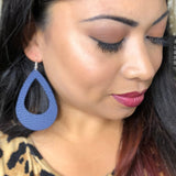 Navy Blue Cut Out Teardrop Earrings 1108 Boutique