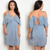 """Katrina"" Plus Size Women's Off The Shoulder Dress 1108 Boutique"