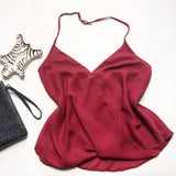 Burgundy Halter Top 1108 Boutique