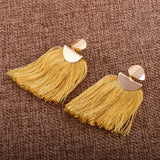 Amber Tassel Earrings 1108 Boutique