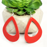 Scarlet Red Cut Out Teardrop Earrings 1108 Boutique