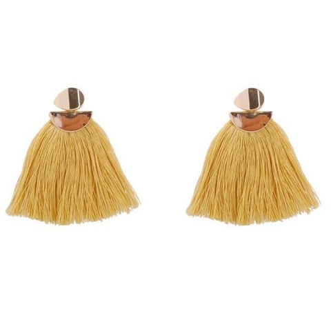 Amber Tassel Earrings