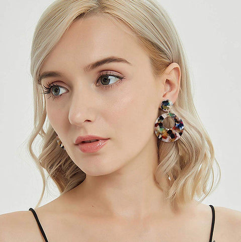 Diana Resin Earrings 1108 Boutique