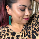 Emerald Green Accent Earrings 1108 Boutique