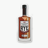 Rye Whiskey Bottle Sticker