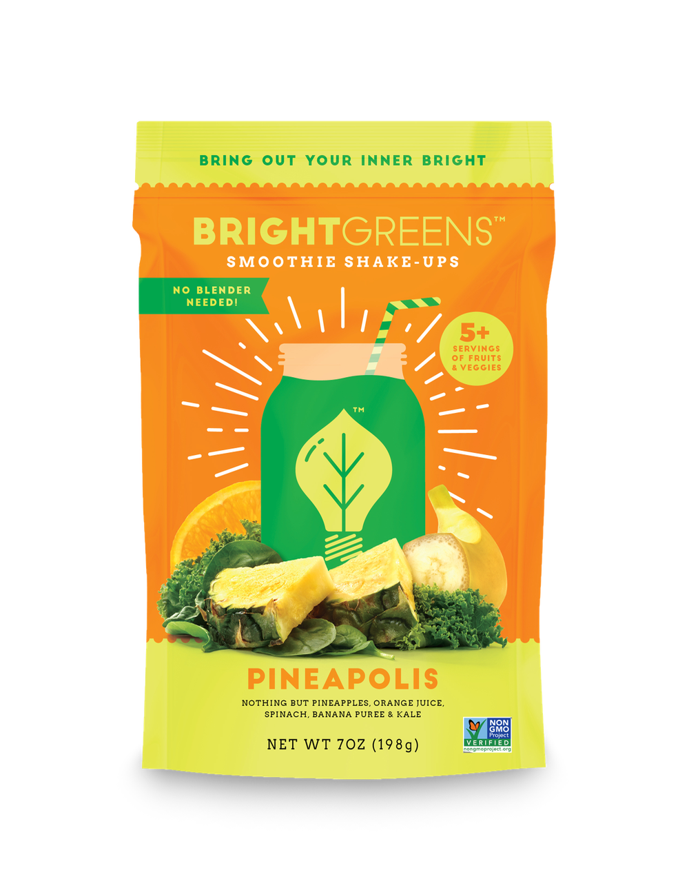 Bright Greens Smoothie Shake Ups Peaches & Green
