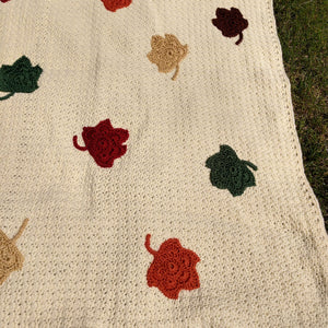 MoonCrafted Essentials:Falling Leaves Throw Blanket,