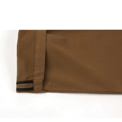 Pantalon chino beige homme The Clothing Kit - Détail revers