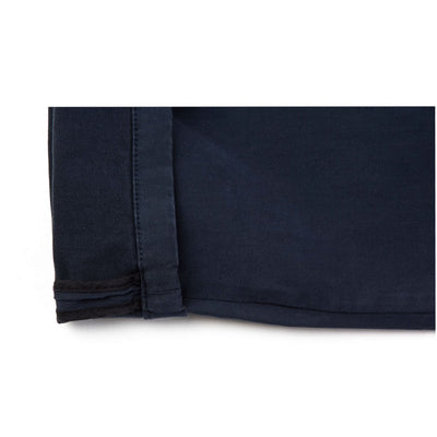 Pantalon chino bleu marine homme The Clothing Kit - Détail revers