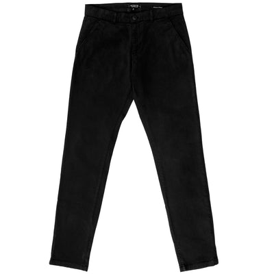 Pantalon chino noir homme The Clothing Kit - Face