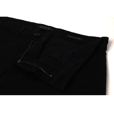 Pantalon chino noir homme The Clothing Kit - Détail braguette