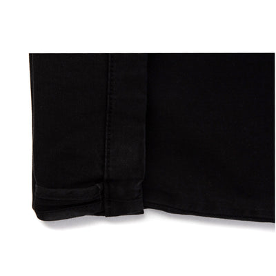 Pantalon chino noir homme The Clothing Kit - Détail revers
