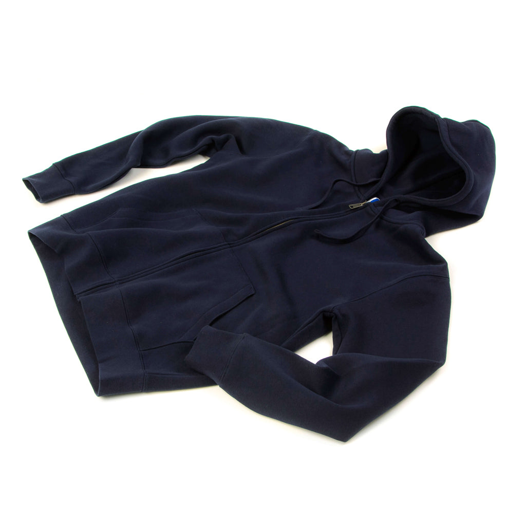 Sweat à capuche bleu marine homme The Clothing Kit - Face