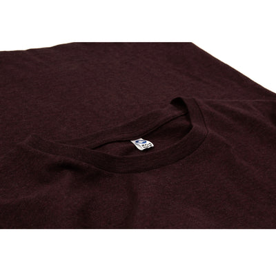 Le t-shirt bordeaux chiné