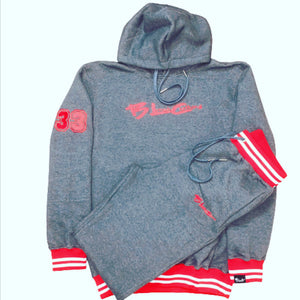 BLC Brand Logo Grey White & Red Sweatsuit