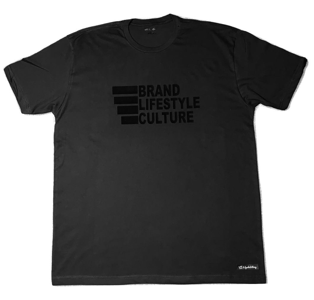 Brand Lifestyle Culture Black On Black T-shirt