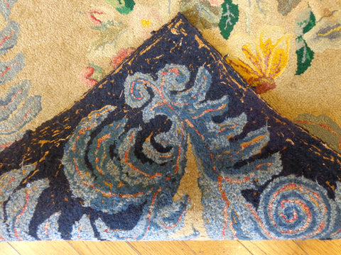 Backside of Hand Hooked rug
