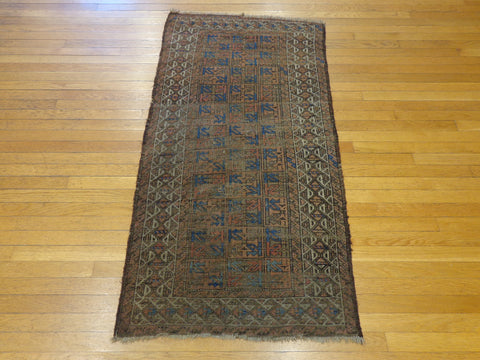Antique Hand Knotted Baluch Oriental Rug