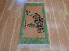 Green Chinese rug