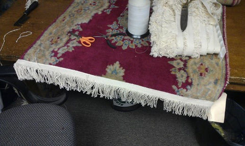 New fringe on an Oriental rug