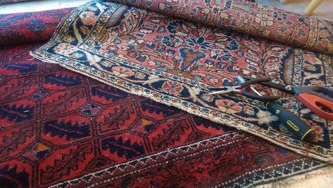 Persian Dergazine and Afghan Rug