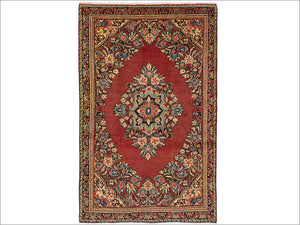 Persian Rug, 4' 3 x 6' 9 Red Mahal - Jessie's Oriental Rugs
