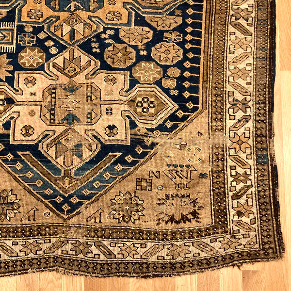 Antique Rug, 3' 6 x 5' 1 Beige Caucasian