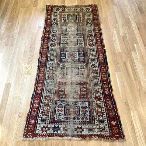 Antique Rug, 2' 8 x 6' 1 Brown Runner