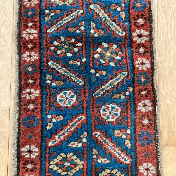 Antique Rug, 1' 2 x 7' 3 Blue Runner