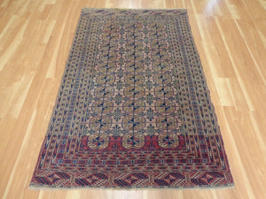 Antique Rug, 4' x 6' 4 Red Bokhara