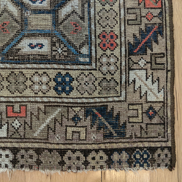 Antique Rug, 3' 1 x 4' 8 Brown Caucasian - Jessie's Oriental Rugs