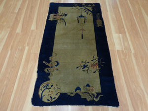 Antique Chinese Rug, 3' x 5' 7 Beige Peking - Jessie's Oriental Rugs