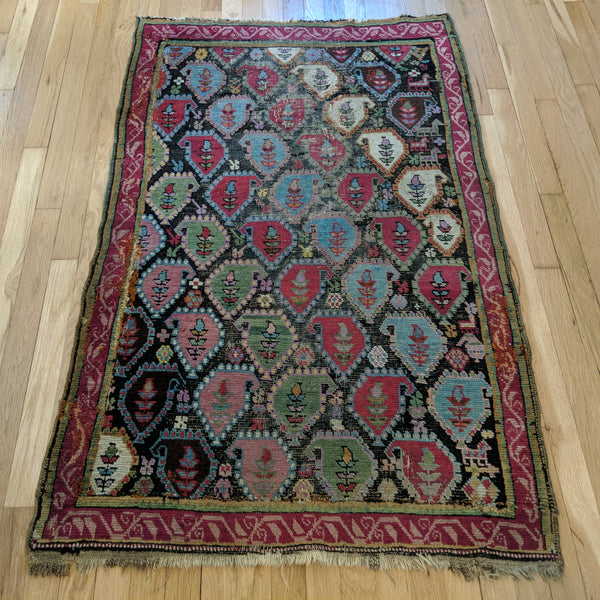 Antique Rug, 3' x 4' 10 Brown - Jessie's Oriental Rugs