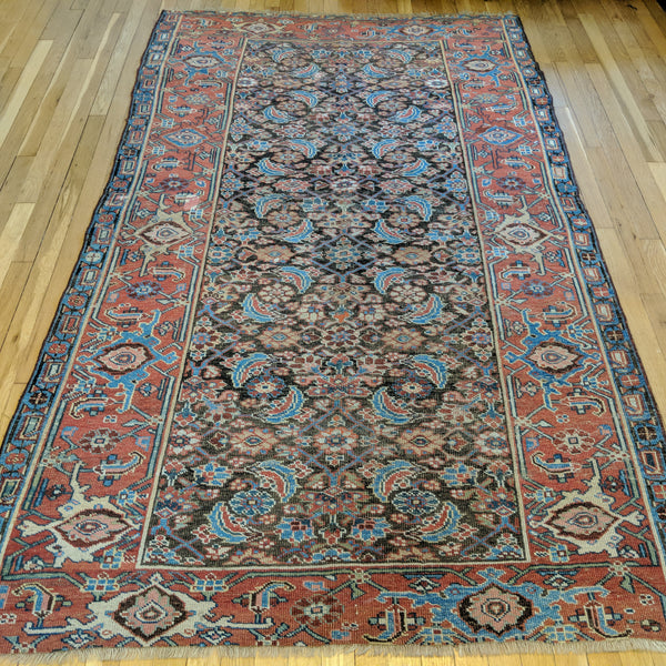 Antique Rug, 4' 8 x 7' 11 Brown - Jessie's Oriental Rugs