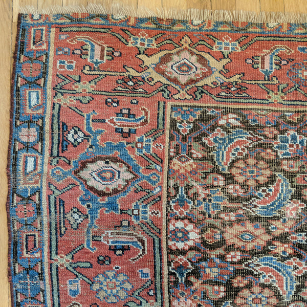 Antique Rug, 4' 8 x 7' 11 Brown Persian - Jessie's Oriental Rugs