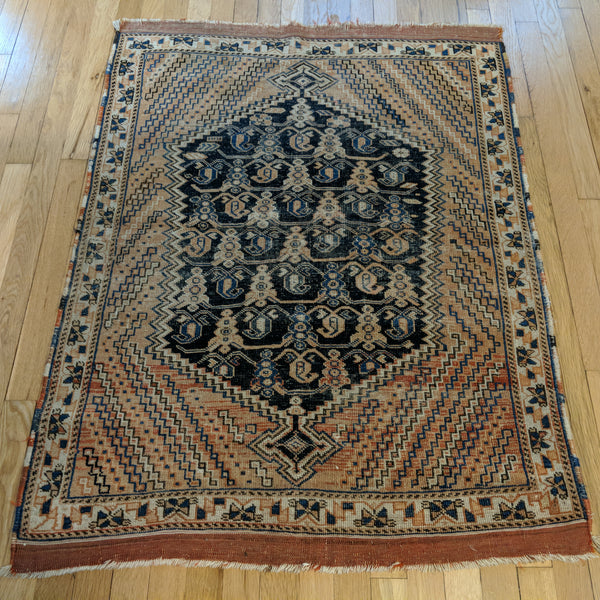 Antique Rug, 3' 1 x 4' 2 Red