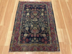Persian Rug, 3' x 4' 3 Antique Kirman - Jessie's Oriental Rugs