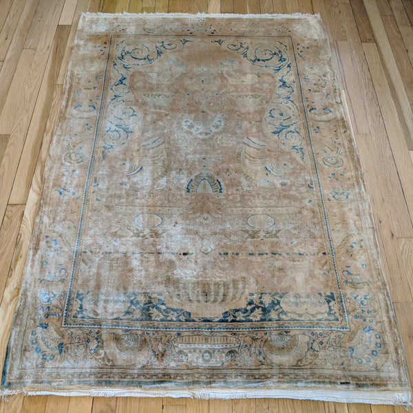 Persian Rug, 3' 6 x 5' 2 Tan Prayer - Jessie's Oriental Rugs