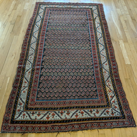 Antique Rug, 3' 9 x 7' Brown - Jessie's Oriental Rugs