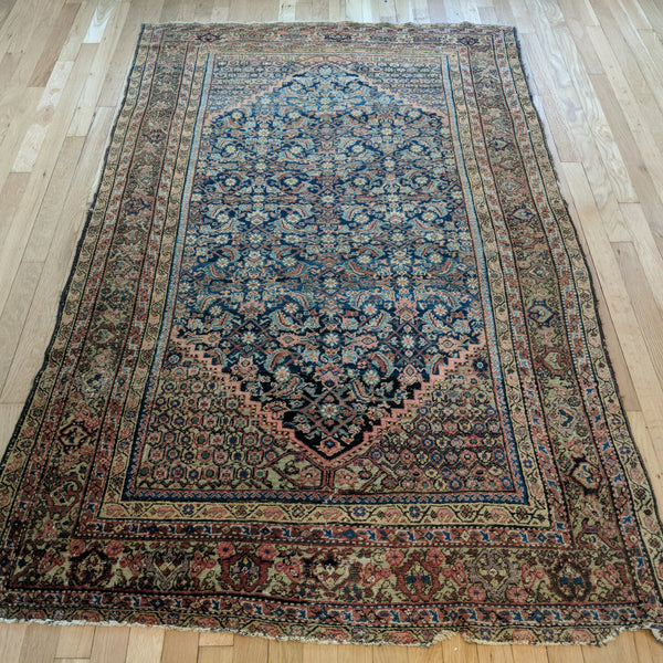 Antique Rug, 4' 2 x 6' 7 Blue - Jessie's Oriental Rugs