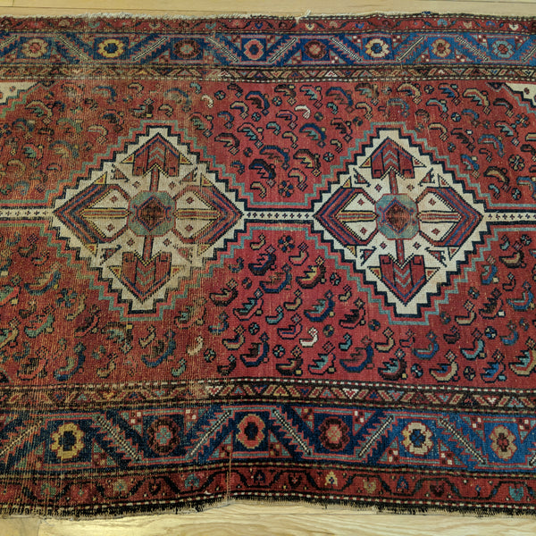 Antique Rug, 4' 3 x 6' 5 Red - Jessie's Oriental Rugs