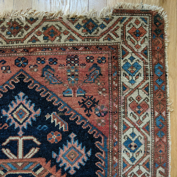 Antique Rug, 3' x 5' 3 Blue - Jessie's Oriental Rugs