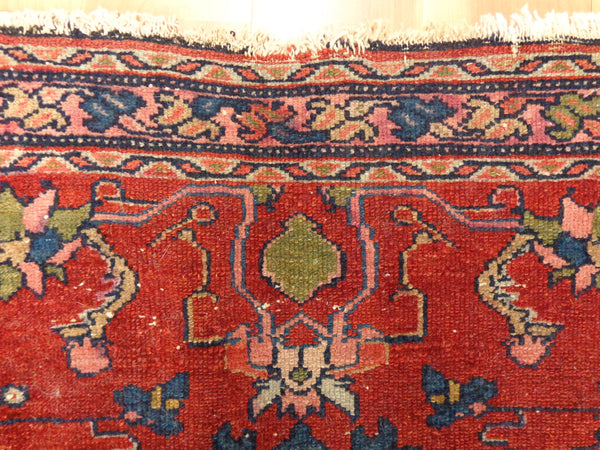 Antique Persian Rug, 3' 2 x 5' Red Lilihan - Jessie's Oriental Rugs
