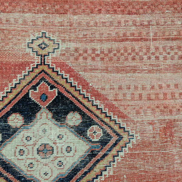 Antique Rug, 3' 4 x 3' 2 Soft Red Tribal - Jessie's Oriental Rugs