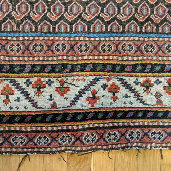 Antique Rug, 3' 9 x 7' Brown
